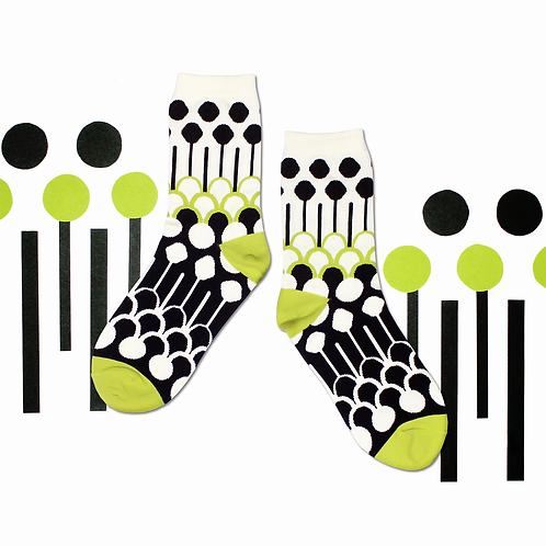 Fountain Unisex Crew Socks / White