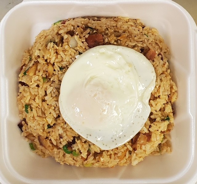 Bacon Fried Rice with Egg