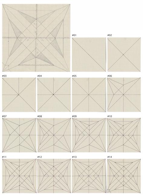 unfolded figure _ 14 steps of origami birds