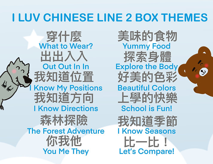I Luv Chinese Subscription Box Line 2 (MONTHLY)