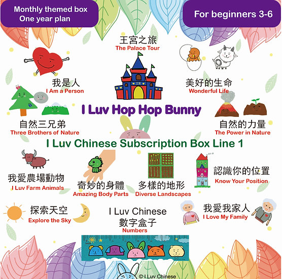 I Luv Chinese Subscription Box Line 1(MONTHLY)