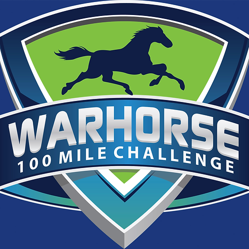 3 in WARHORSE 100 Mile Challenge Sticker- 3 inch size
