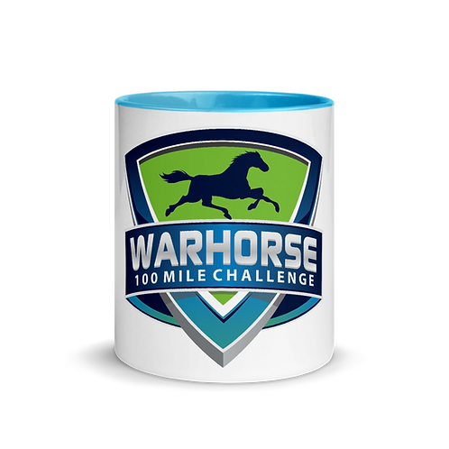 WARHORSE 100 Mile Challenge logo Mug with Color Inside
