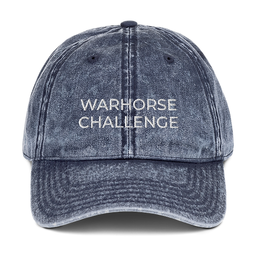 Embroidered Vintage WARHORSE CHALLENGE Cotton Twill Cap