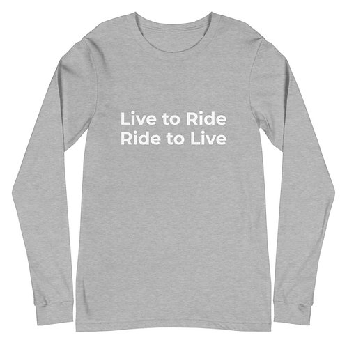 Live to Ride / Ride to Live Long sleeve with back tag WARHORSE Logo