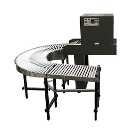 180 Degree Gravity Curved Conveyors with Straight Section