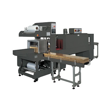 PP-6030AE Right Angle Poly Bundler w/Upstacker + PP-6040M Shrink Tunnel