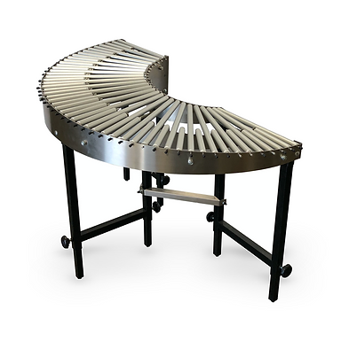 180 Degree Curved Gravity Roller Conveyors