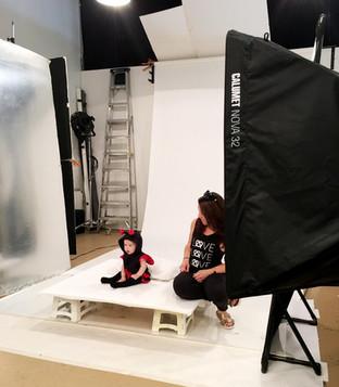 Baby Model on Set