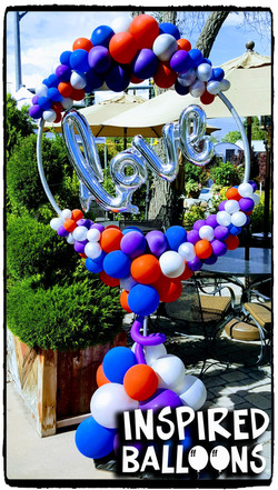 Organic Balloon Decor, LOVE Hoop