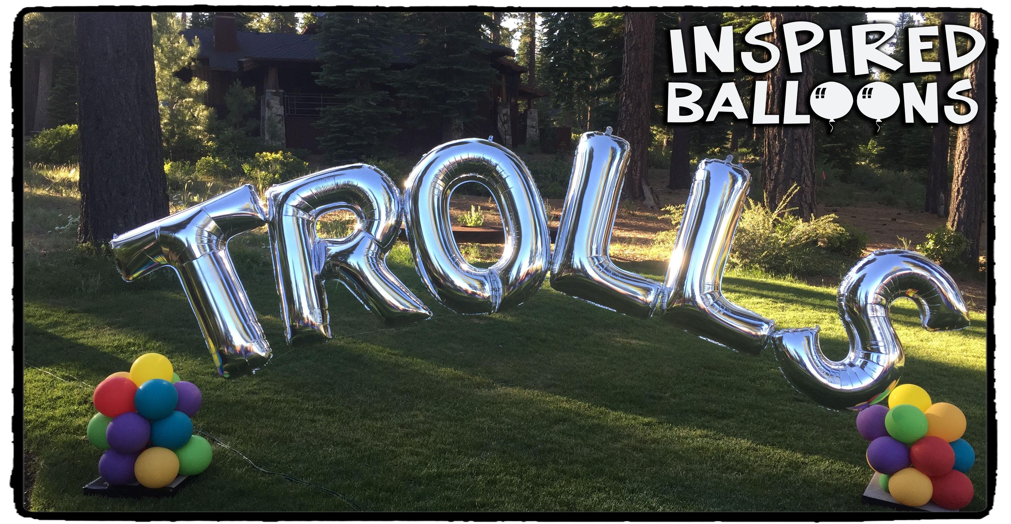 Trolls Balloon Arch