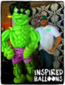 Incredible Hulk, Balloon Sculpture, Marvel Comics