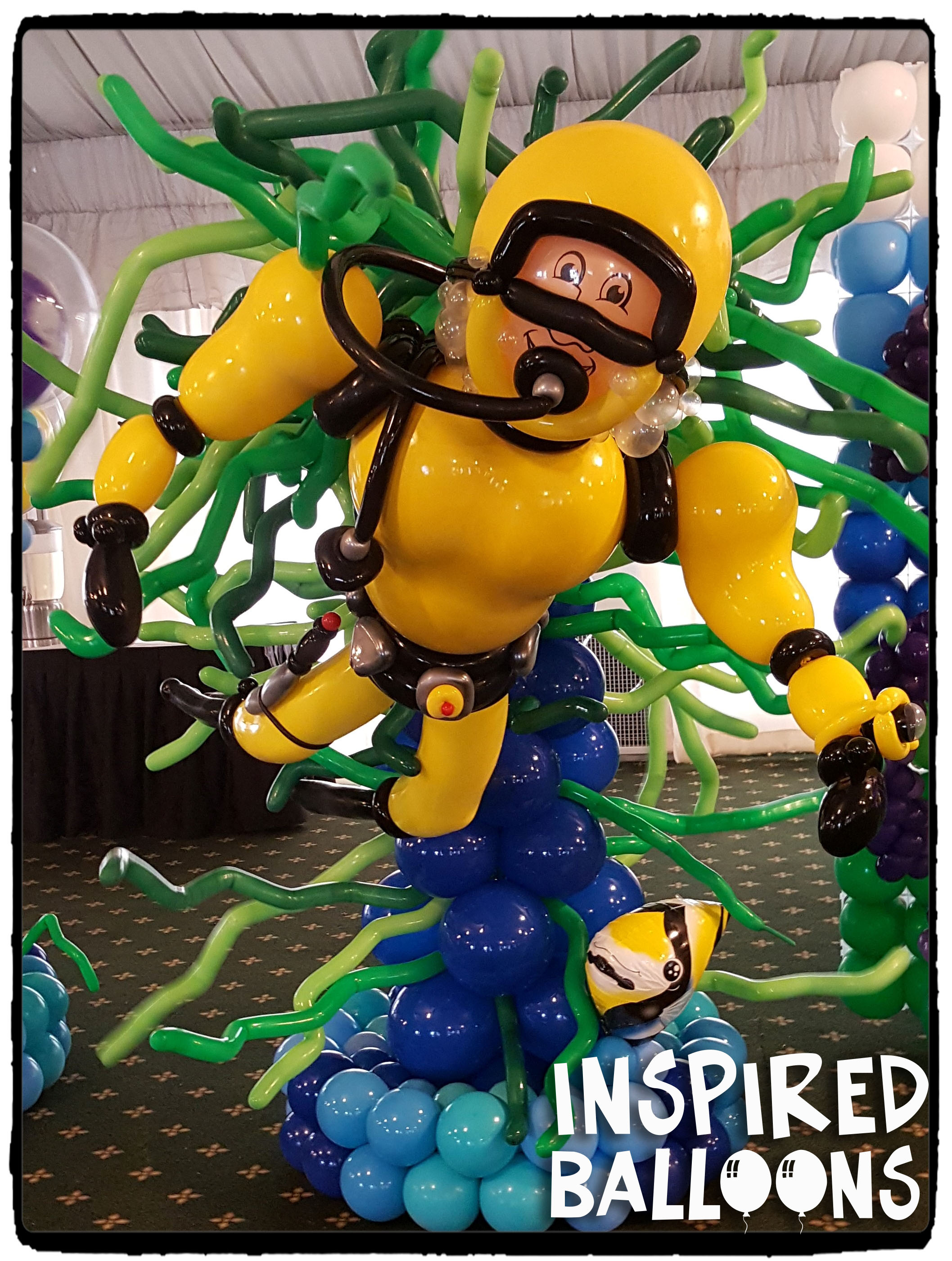 Scuba Diver Balloon Sculpture