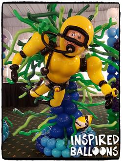 Scuba Diver Balloon Sculpture