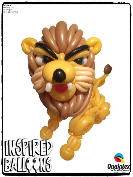 Roaring Lion Balloon Sculpture