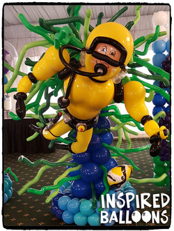 Scuba Diver, Dante's Team Float 2017 (1st Place)