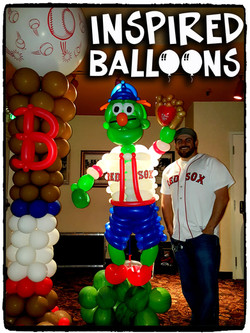Boston Red Sox Balloon Decor