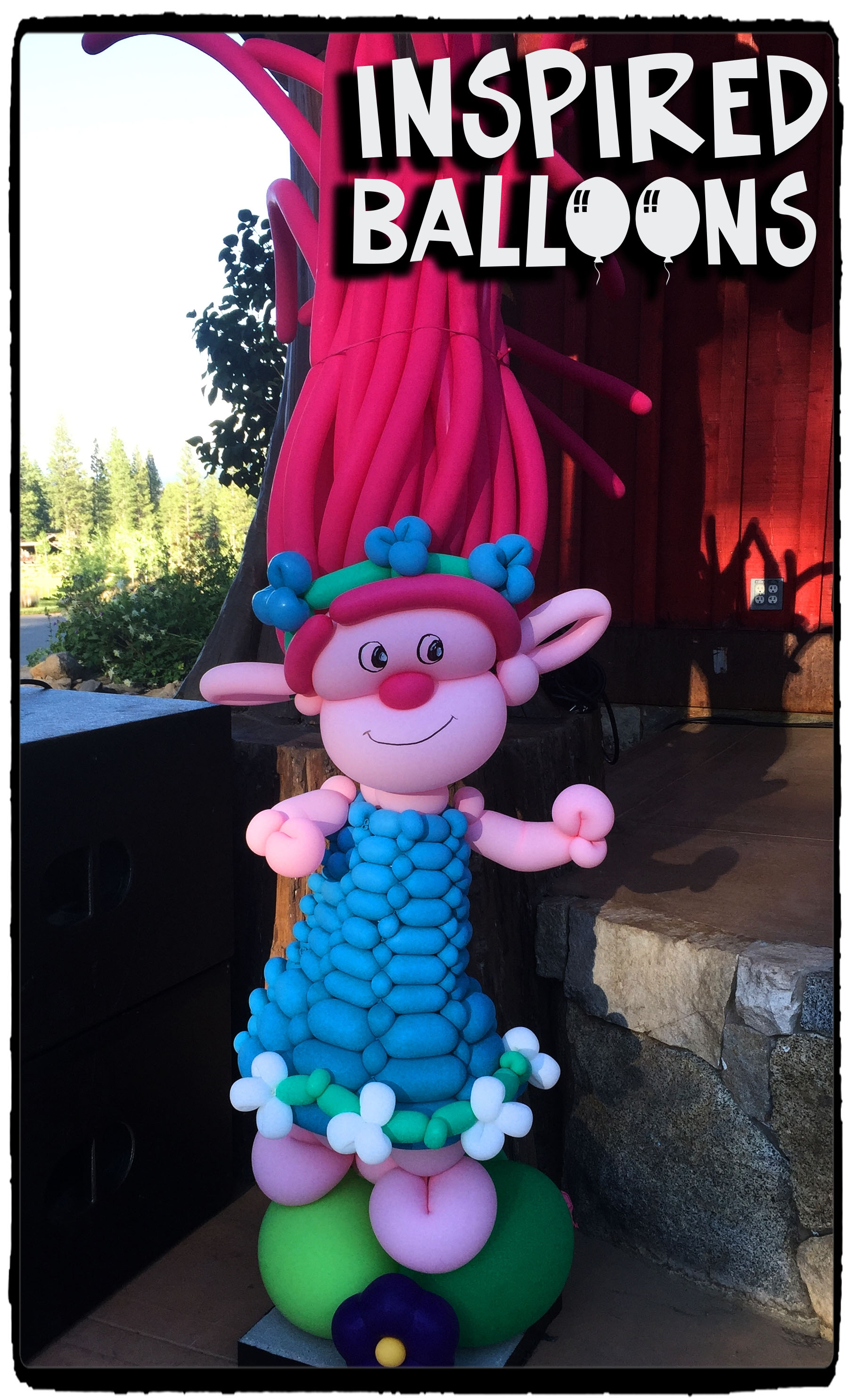 "Trolls Balloon Art ""Poppy"""