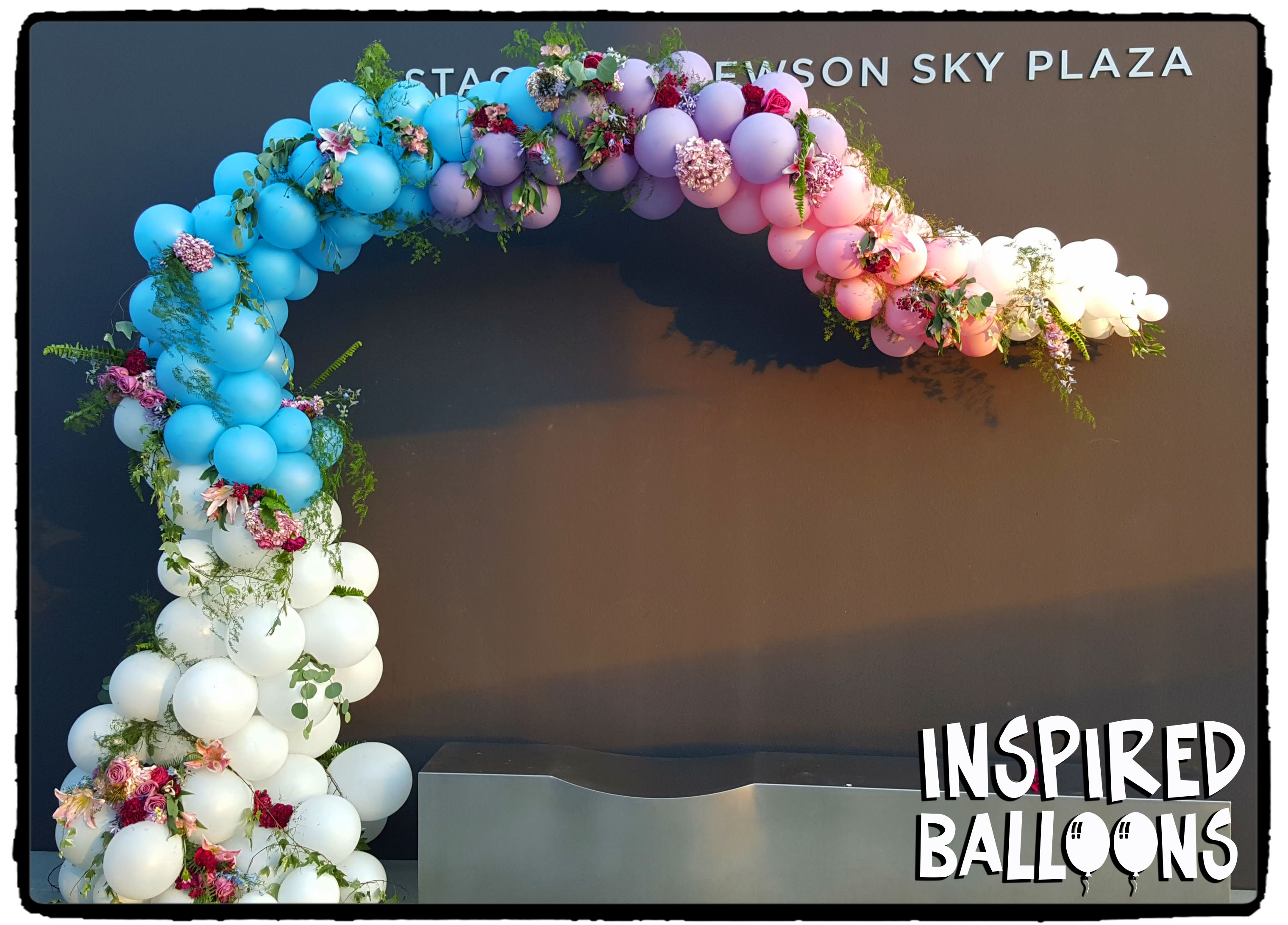 Organic Balloon Arch, Wedding Decor
