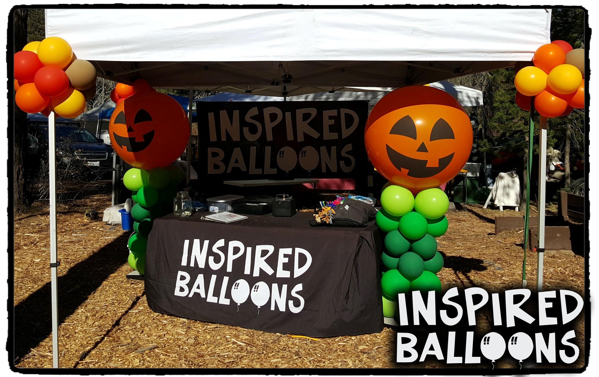 Jack-O-Lantern Balloon Colums