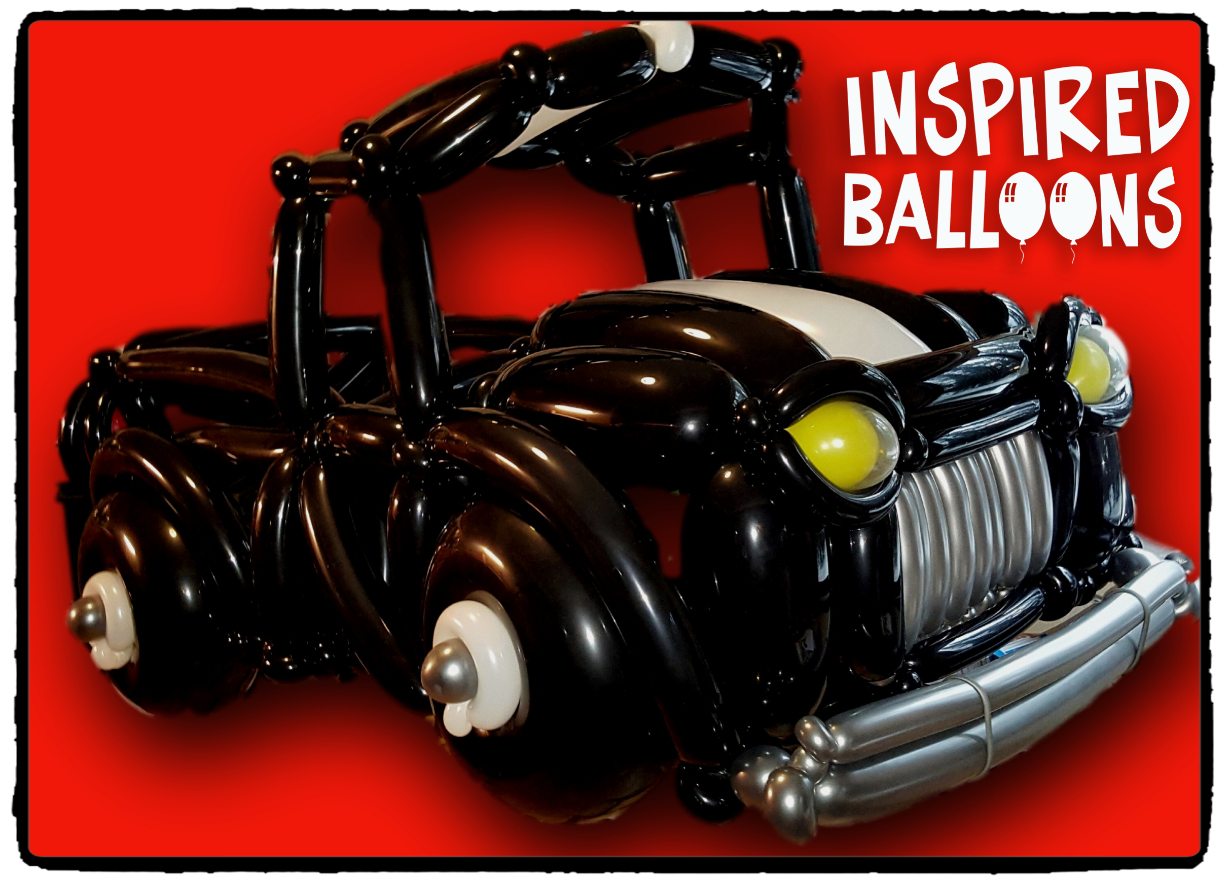 Pickup truck balloon sculpture