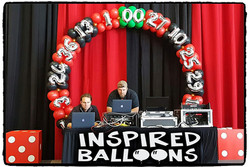 Roulette Wheel Balloon Arch