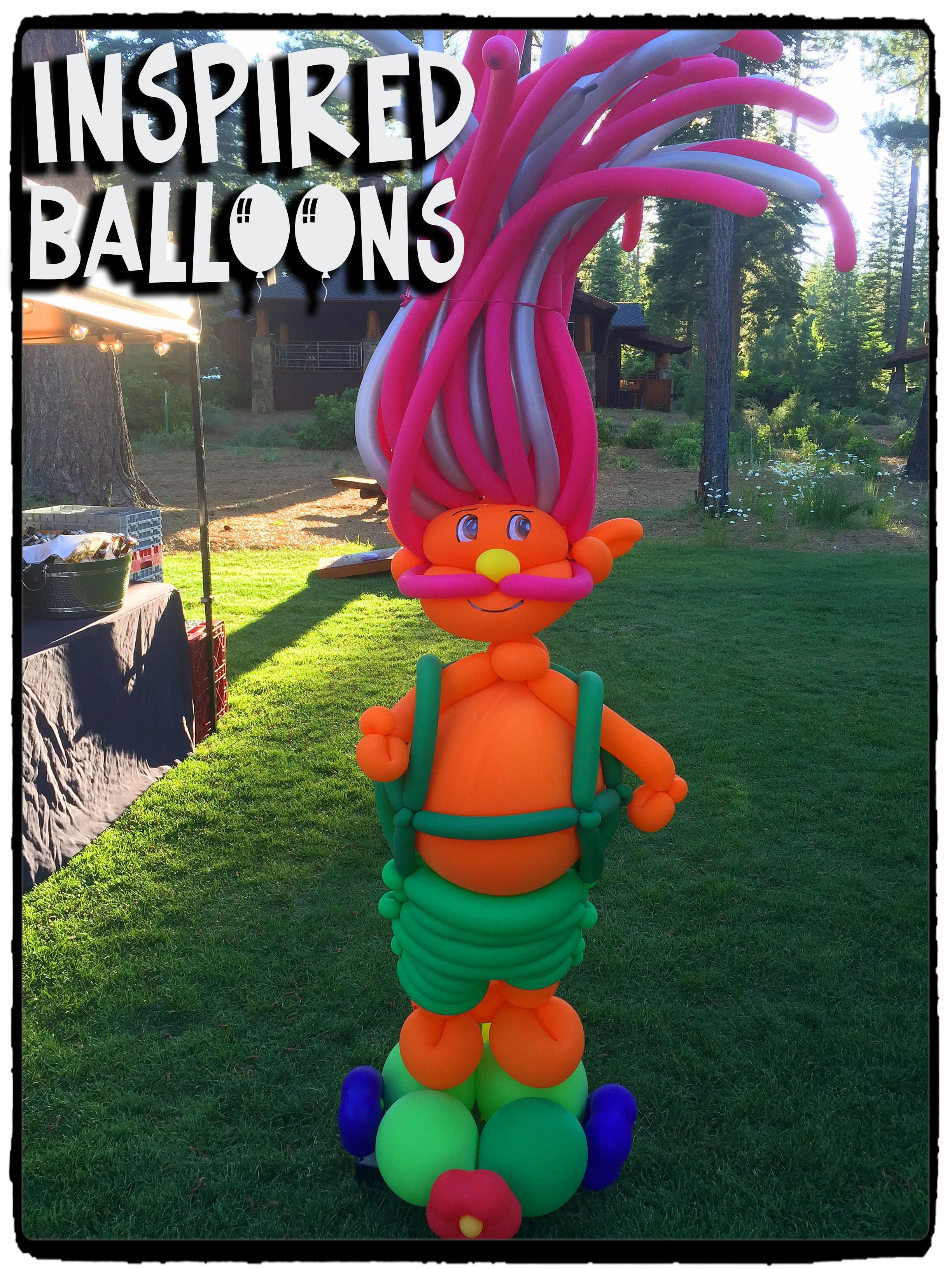 "Trolls Balloon Art ""Pappy"""