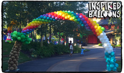 Trolls themed Balloon Arch