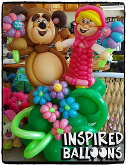 Masha & The Bear Balloon Sculpture