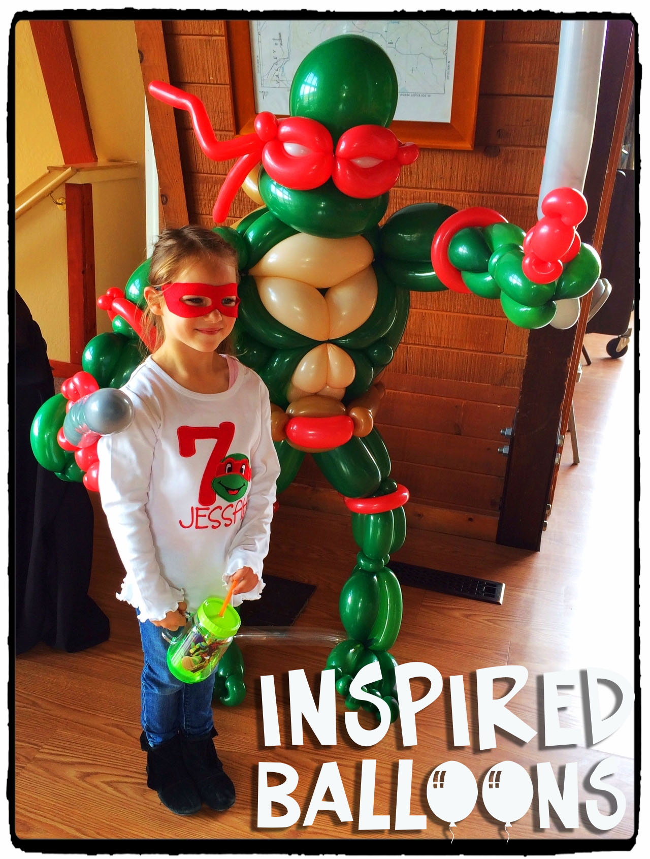 Ninja Turtle Balloon Sculpture