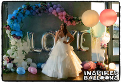 Organic Balloon Wedding Decor