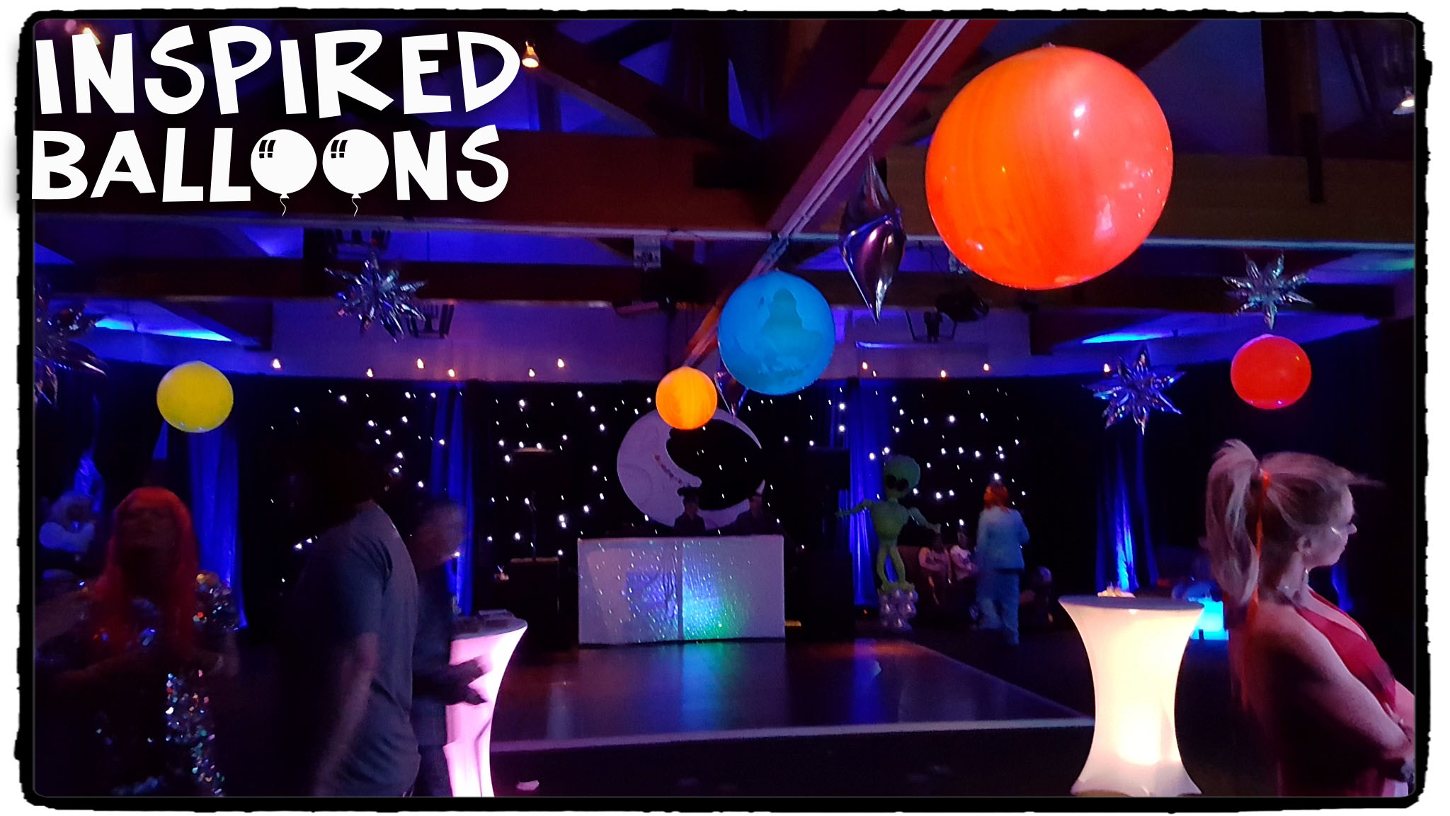 Space Themed Balloon Decor