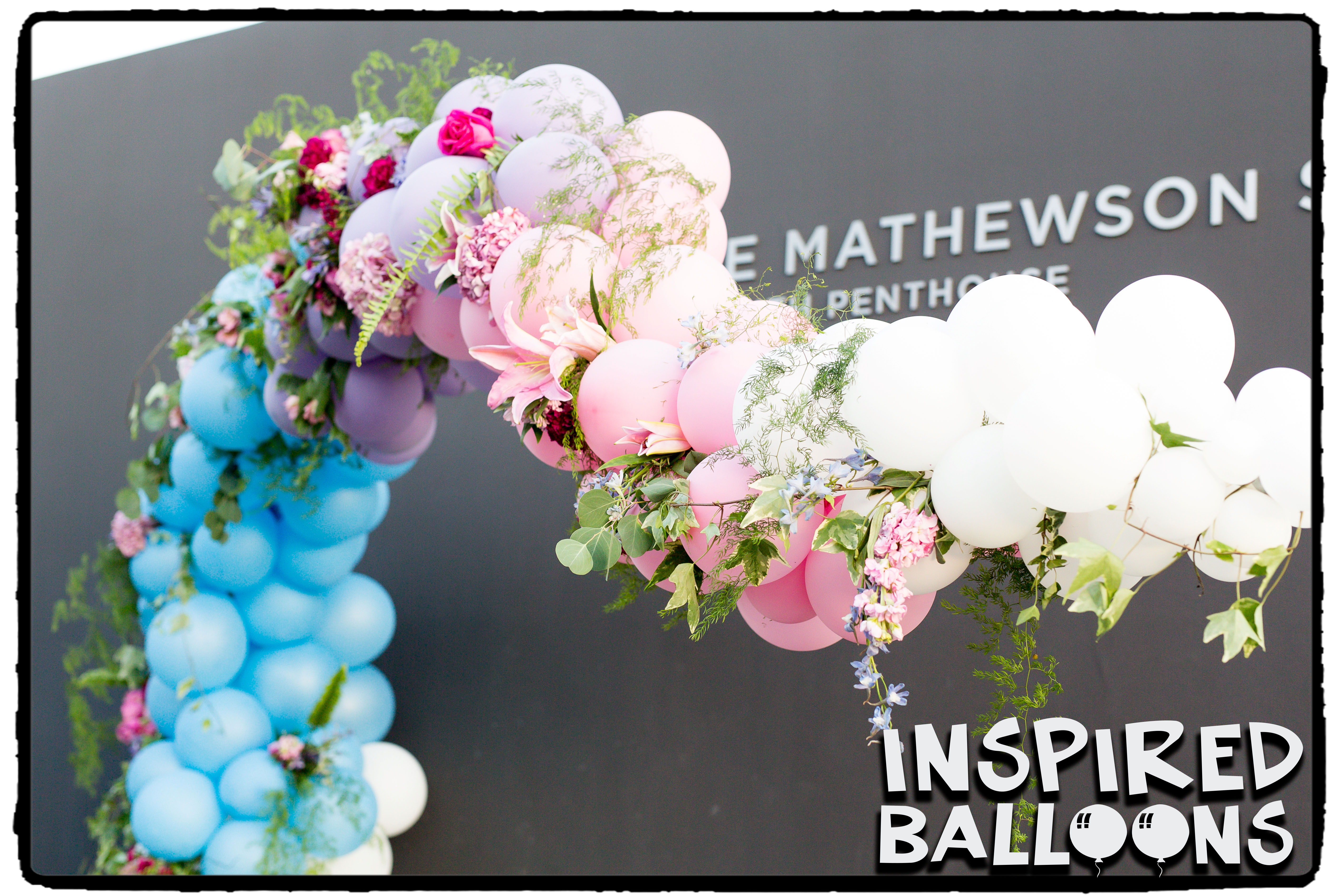 Organic Balloon Arch Wedding Decor