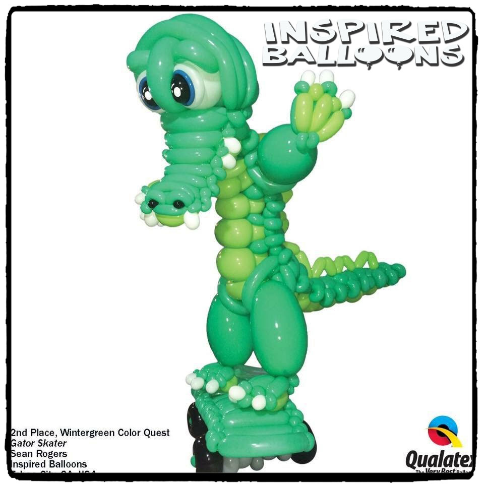 Gator Skater Balloon Sculpture