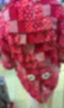 Lappenkostüm aus Baumwollstoffen für Karneval