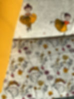 Sweatshirtstoff für Mädchen in gelb