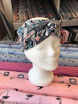 Fertiges Bandeau Stirnband, selbstgenäht aus Stoffen aus der KomMode