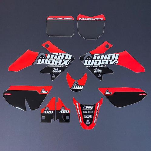 """MINIWORX Co """"Team"""" Graphics Kit for Honda CRF50"""