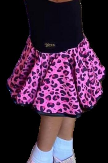 Juvenile Practice Wear Black drop waisted skirt & printed frill