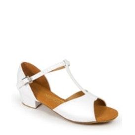 Juvenile Latin Shoe- White Plain