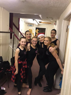 Backstage ready to dance