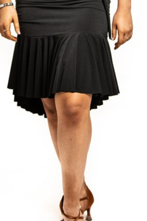 Junior Black drop waisted ruched skirt