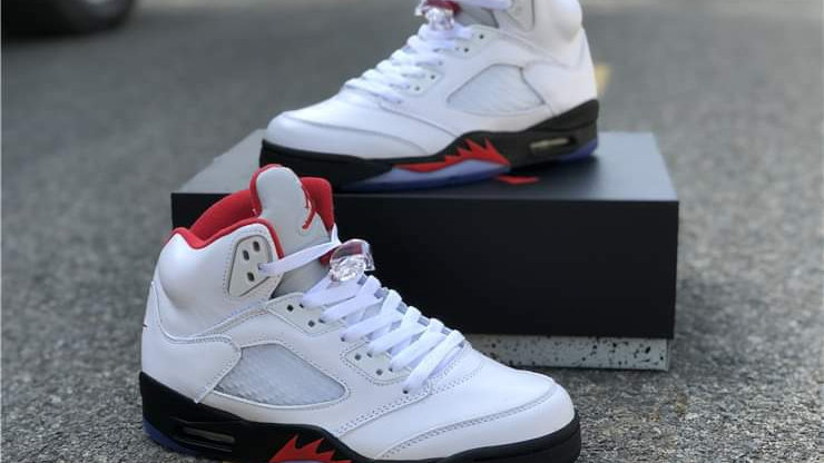 "Air Jordan 5 Retro ""Fire Red"" Shoes"