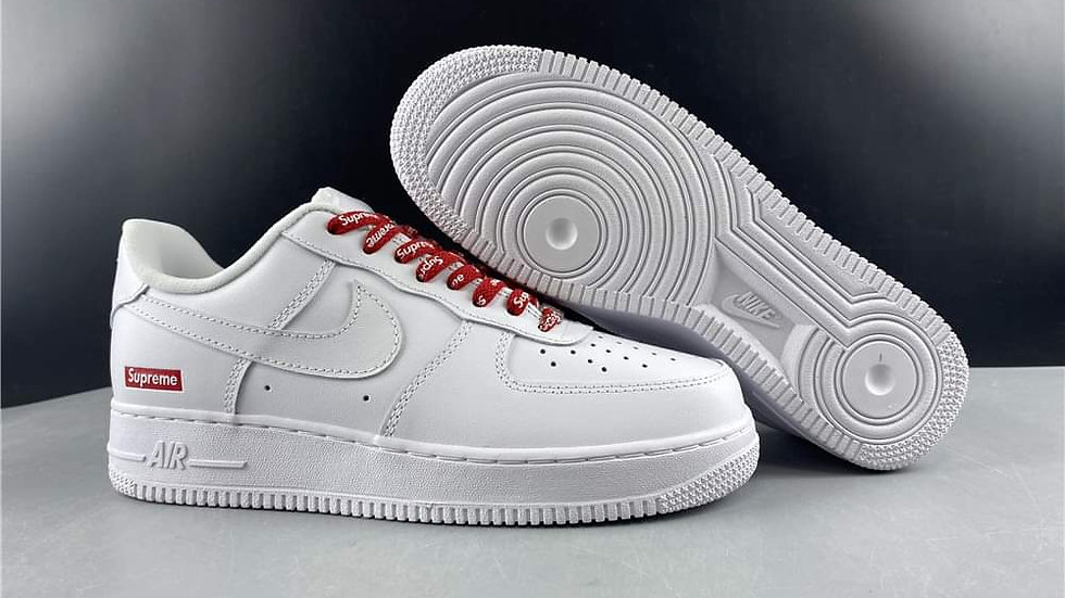 Nike Air Force 1 Low Supreme White Shoes