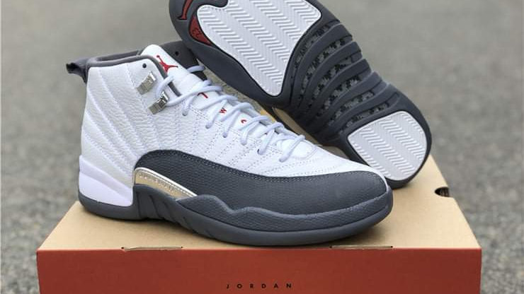 "Air Jordan 12 Retro ""Dark Grey"" Shoes"