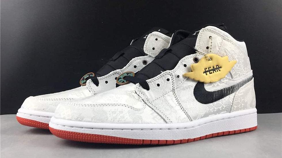 Air Jordan 1 Mid SE Fearless Edison Chen CLOT Shoes