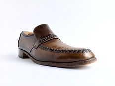 Barker Loafer - Before Polish - Angle View