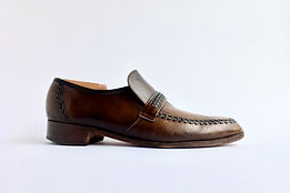 Barker Loafer - Before Polish - Side View