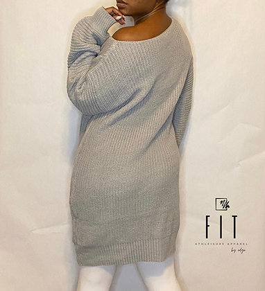 FIT Off The Shoulder Sweater | Heather Grey