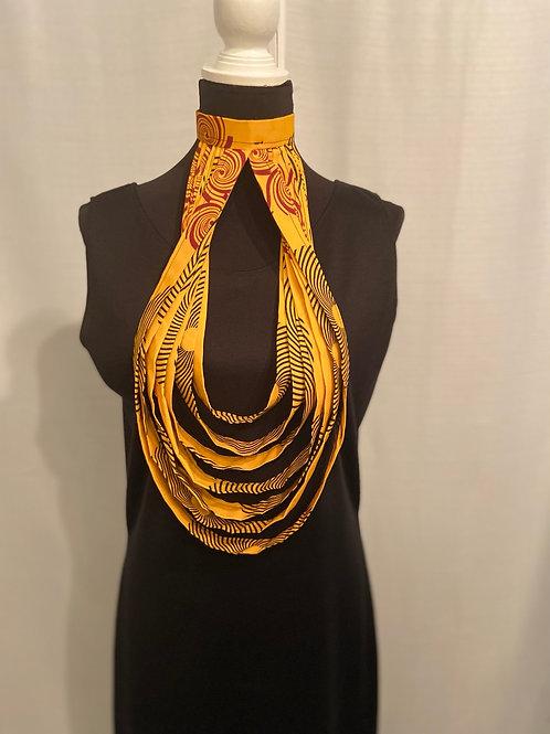 Pretty Golden Teardrop Necklace